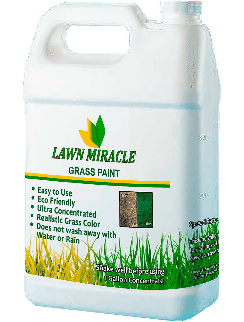 An image of Lawn Miracle lawn paint jugs