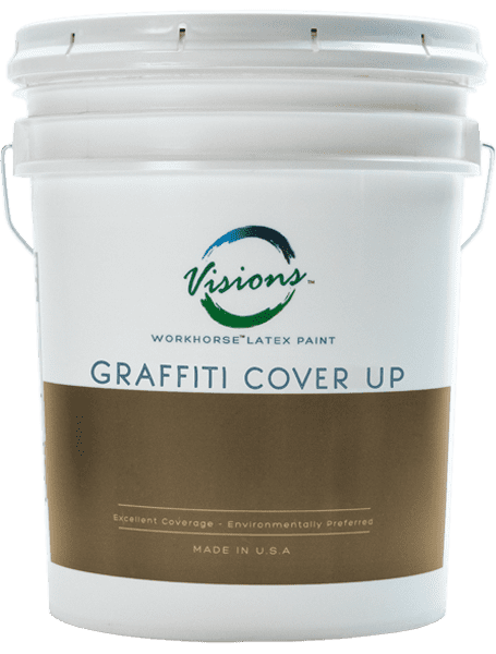 an image of a 5 gallon bucket of graffiti coverup paint